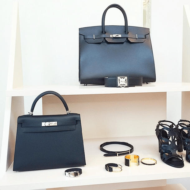 Hermes Black Birkin and Kelly Bags