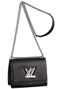 Louis Vuitton Black Epi Twist Bag - Cruise 2015