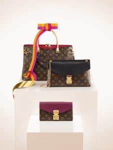 Louis Vuitton Cerise Pallas Bag/Noir Pallas Chain/Aurore Pallas Wallet