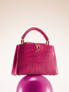 Louis Vuitton Grenade Crocodile Capucines MM Bag