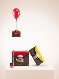 Louis Vuitton Mask Card Holder/Pochette/Sarah Wallet
