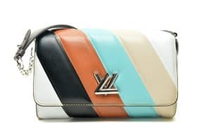 Louis Vuitton Multicolor Stripes Twist Malletage Bag - Spring 2015