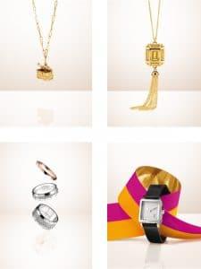 Louis Vuitton Petite Malle Open Pendant/Emprise Pendant/Rings and Watch