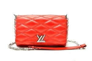 Louis Vuitton Red Aged Twist Malletage PM Bag - Spring 2015