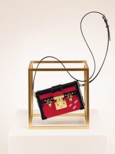 Louis Vuitton Rouge Epi Petite Malle Bag