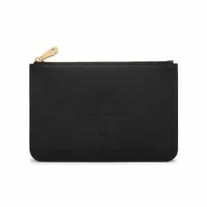 Mulberry Black Small Blossom Pouch