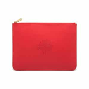 Mulberry Hibiscus Large Blossom Pouch