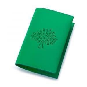 Mulberry Jungle Green Blossom Passport Cover