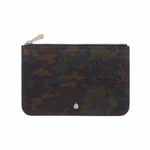 Mulberry Khaki Camo Printed Cara Delevingne Small Pouch
