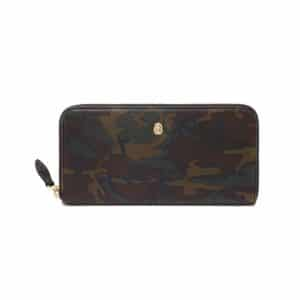 Mulberry Khaki Camo Printed Cara Delevingne Zip Around Wallet