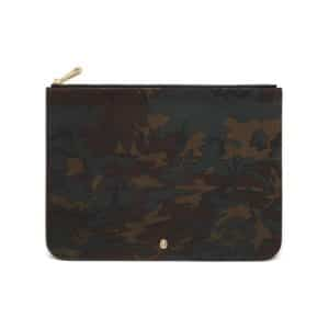 Mulberry Khaki Camo Printed Goat Cara Delevinge Large Pouch