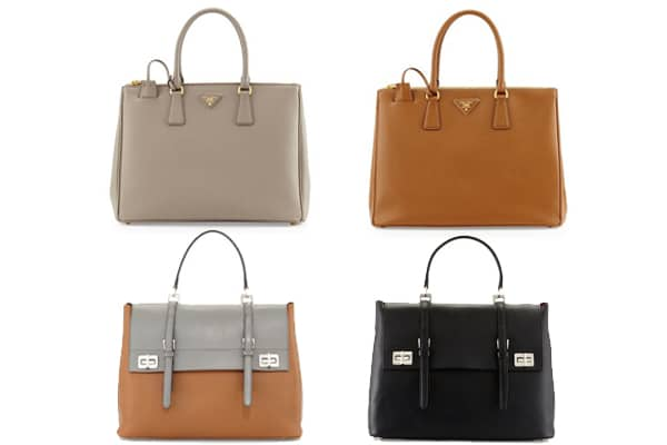 prada saffiano leather mini bag - The Guide to Bags that Fit Small Laptops from Chanel, Louis ...