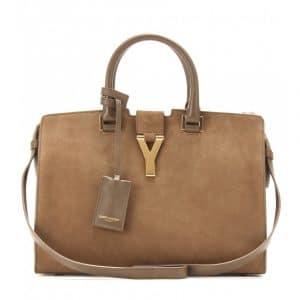 Saint Laurent Argile Suede Cabas Y Small Bag