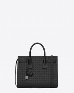 Saint Laurent Black Studded Classic Sac De Jour Small Bag - Cruise 2015