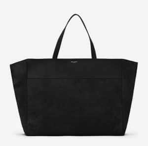 Saint Laurent Black Suede Classic East-West Shopping Bag