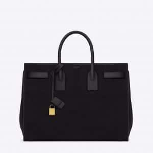 Saint Laurent Black Suede Sac De Jour Large Bag