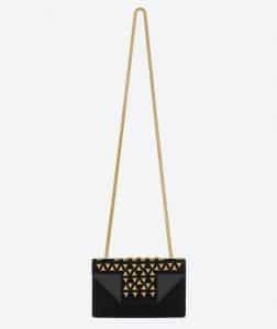 Saint Laurent Black Suede/Leather Betty Clous Small Bag