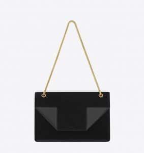 Saint Laurent Black Suede/Leather Betty Medium Bag