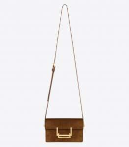 Saint Laurent Ocher Suede Lulu Small Bag