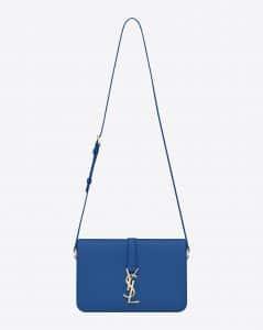 Saint Laurent Royal Blue Monogram Universite Bag - Cruise 2015