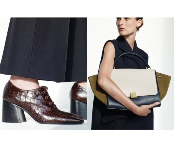 black celine handbag - Celine Spring 2015 Lookbook with New Mini Trapeze Croc Bag ...