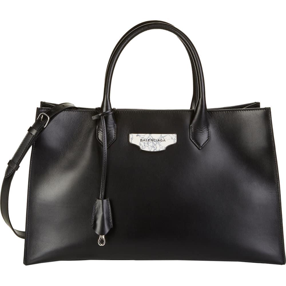 Balenciaga Black Padlock Work S Bag