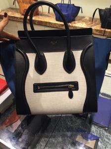 Celine Blue/Black/Beige Mini Luggage Bag - Cruise 2015