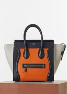 Celine Bright Orange/Black/Beige Mini Luggage Bag - Cruise 2015