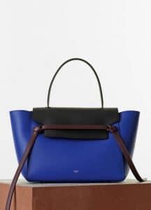 Celine Indigo/Black/Burgundy Small Belt Bag - Cruise 2015