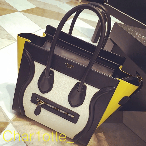 celine tri-colour lignage bag