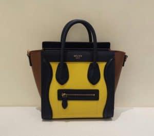 Celine Yellow/Brown/Black Nano Luggage Bag - Cruise 2015