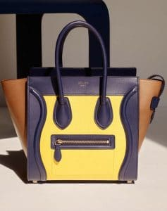 Celine Yellow/Brown/Indigo Mini Luggage Bag - Cruise 2015