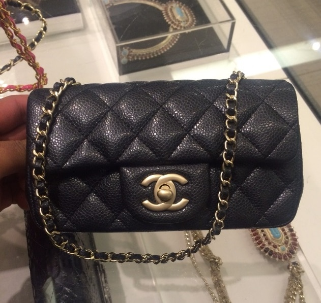 Gallery Chanel Indigo Patent Classic Flap Extra Mini Bag
