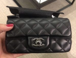 Chanel Black Classic Flap Extra Mini Bag