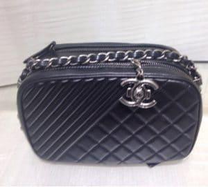 Chanel Black Coco Boy Camera Case Small Bag