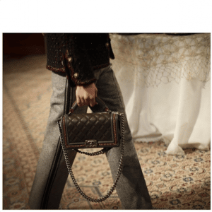 Chanel Black Embellished Boy Bag - Pre-Fall 2015 Runway