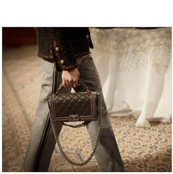 9594e27a9d36 Chanel Black Embellished Boy Bag - Pre-Fall 2015 Runway. IG: _petitprince_