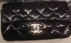 Chanel Black Patent Classic Flap Extra Mini Bag