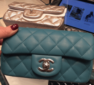 Chanel Blue Classic Flap Extra Mini Bag