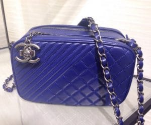 Chanel Blue Coco Boy Camera Case Large Bag 1