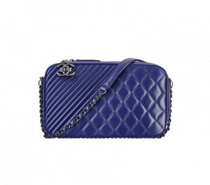 Chanel Blue Coco Boy Camera Case Large Bag