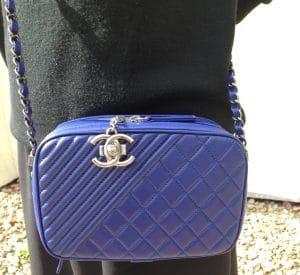 Chanel Blue Coco Boy Camera Case Small Bag