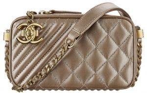 Chanel Bronze Coco Boy Camera Case Small Bag