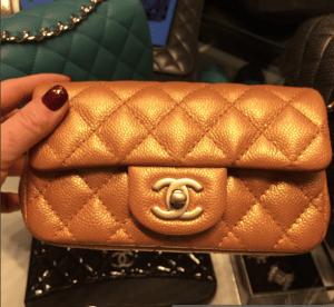 Chanel Gold Classic Flap Extra Mini Bag