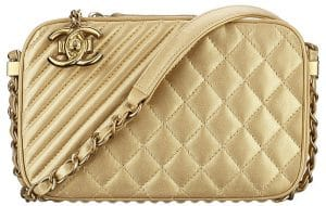 Chanel Gold Coco Boy Camera Case Large Bag