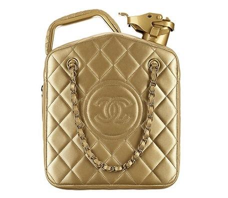 Chanel Gold Lambskin Dubai By Night Jerrycan Bag