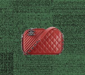 Chanel Red Coco Boy Camera Case Small Bag