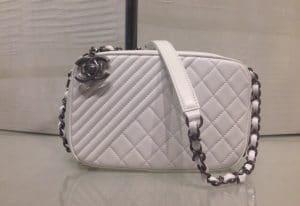 Chanel White Coco Boy Camera Case Small Bag 1