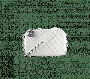 Chanel White Coco Boy Camera Case Small Bag