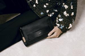 Chloe Black Elle Clutch Bag / Wool and Silk Jumper with Pompons